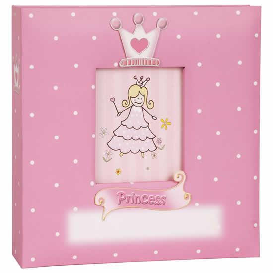 Album enfant rose 200 photos 10x15cm Princesse