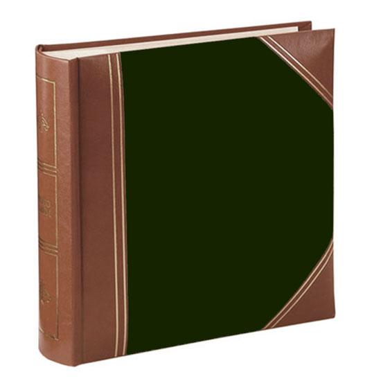 Album pochettes 10x15 200 photos cuir vert marron