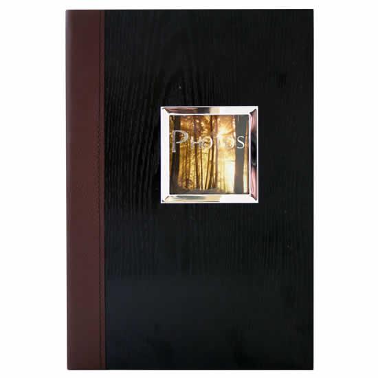 Album pochettes 300 photos 10x15 bois et cuir