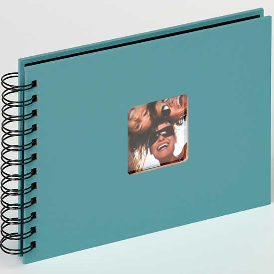 Album 40 photos 11,5x15 cm à spirales bleu