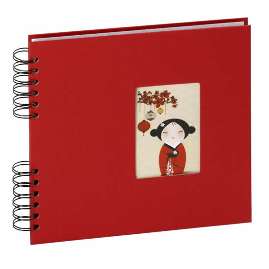 Album photo Kokeshi rouge 40 pages 80 photos 10x15