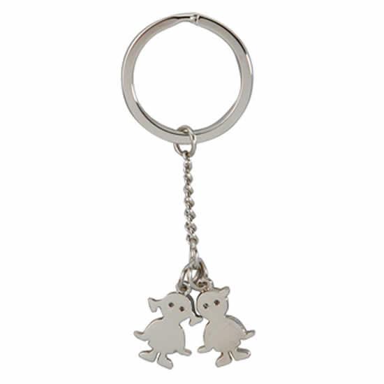 Porte clés en métal chromé Charm enfants
