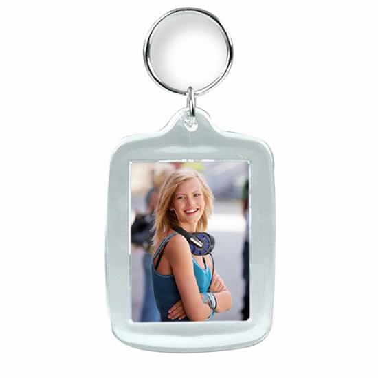 Porte clés photo rectangulaire personnalisable
