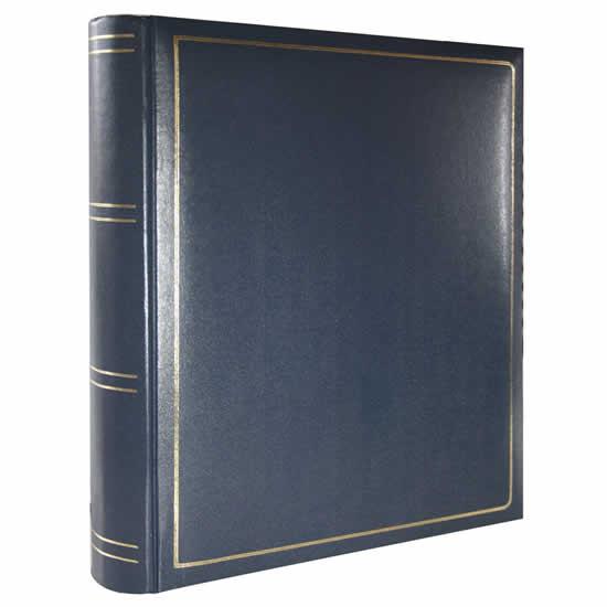 Album bleu 400 photos simili cuir pages noires