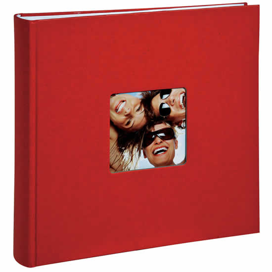 walther album photo traditionnel fun 400 photos rouge. Black Bedroom Furniture Sets. Home Design Ideas