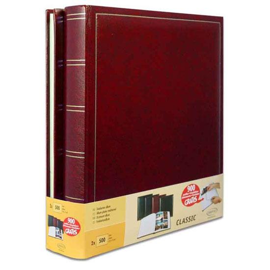 lot de 2 albums photo classique rouge simili cuir brepols. Black Bedroom Furniture Sets. Home Design Ideas