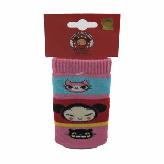 Chaussette téléphone portable Pucca rose