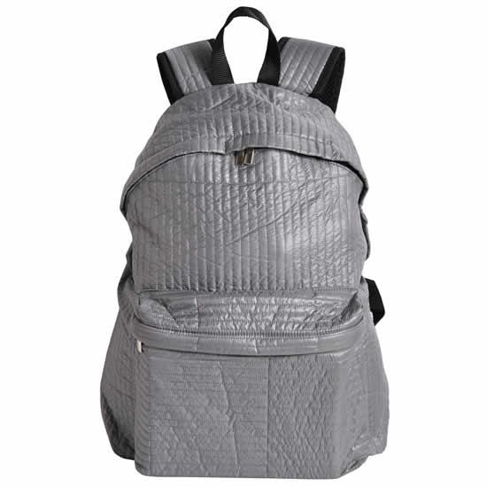sac à dos 1 compartiment souple gris
