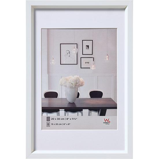 Cadre 20x30 Steel Style Blanc