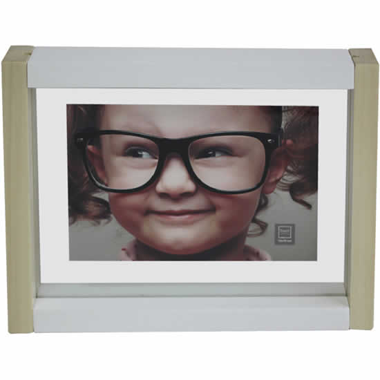Cadre photo bois bicolore 10x15