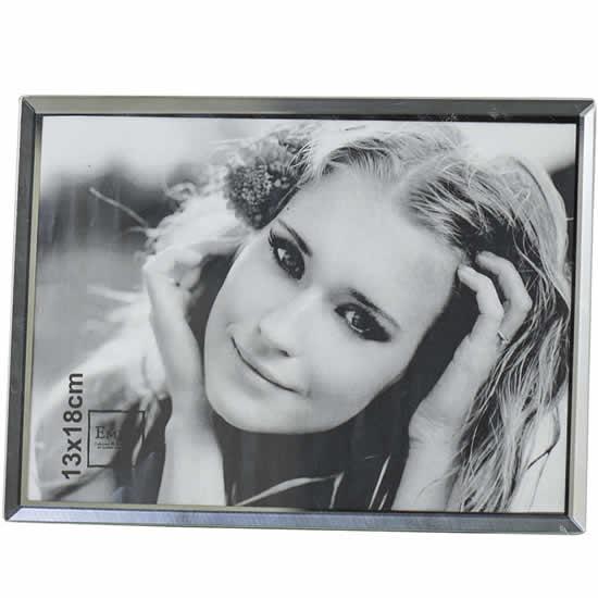 Cadre photo bord miroir 13x18