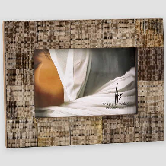 Cadre photo ecailles taupe 10x15 Emdé