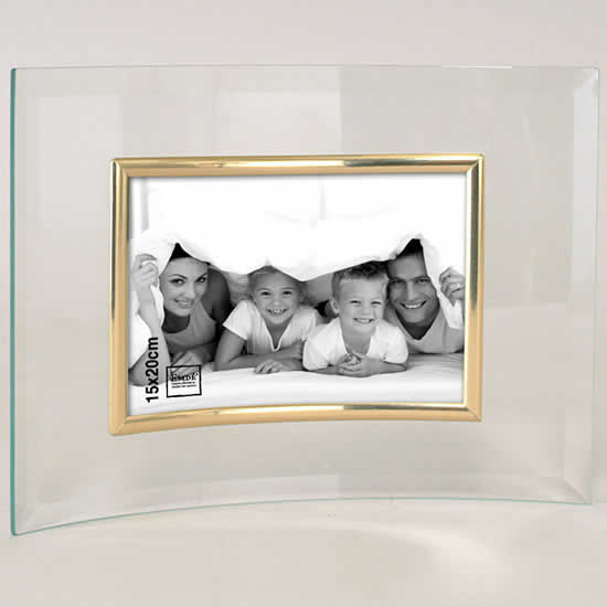cadre photo en verre galb pour photo 15x20 dor emd. Black Bedroom Furniture Sets. Home Design Ideas