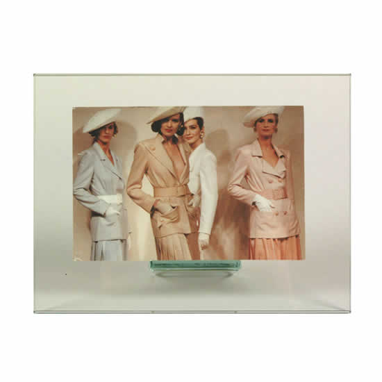 cadre photo en verre horizontal 10x15 emdé