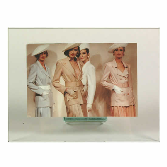 Cadre photo en verre horizontal 13x18