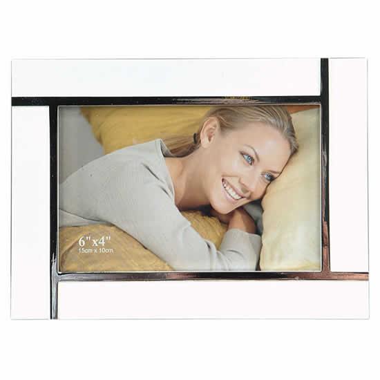 Cadre photo laqué blanc 10x15 Emdé