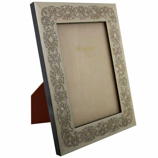 cadre photo marrakech blanc 18x24cm natalini. Black Bedroom Furniture Sets. Home Design Ideas