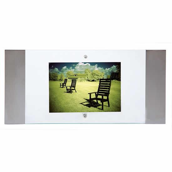 Cadre photos 10x15 charline 2 en acier inox