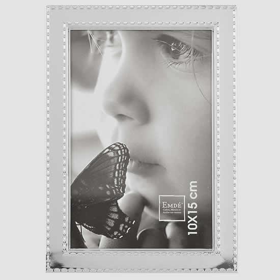 Cadre photos 10x15 design métal chrome sellier