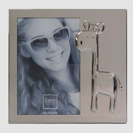 Cadre photos 10x15 enfant Girafe en métal Emdé