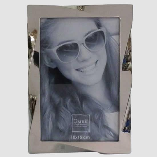 Cadre photos 10x15 torsadé en métal Emdé