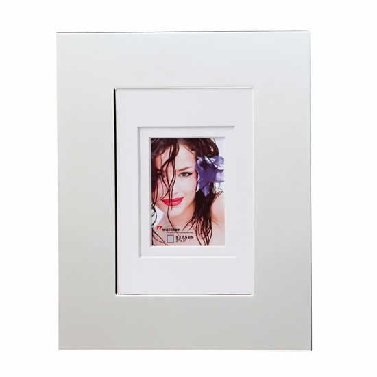 Cadre photos 13x18 piano en métal miroir