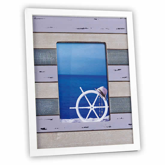 Cadre photos Calais 10x15 en bois pastel