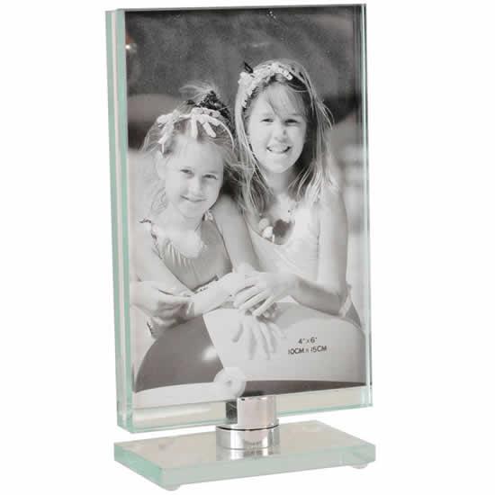 Cadre toupie en verre vertical 13x18