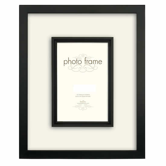 Cadre en bois noir pour photo 15x20cm