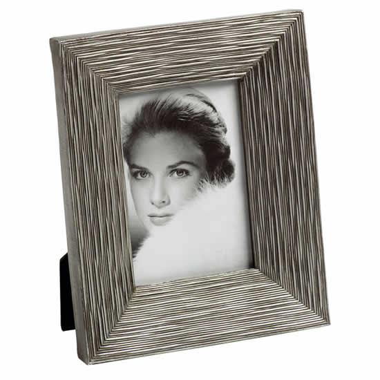 Cadre photo 10x15 design résine silver