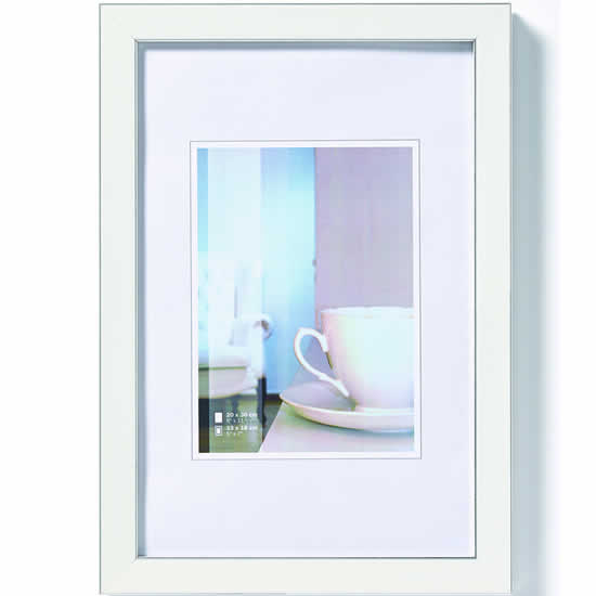 cadre photo ambience blanc 13x18 cm walther. Black Bedroom Furniture Sets. Home Design Ideas
