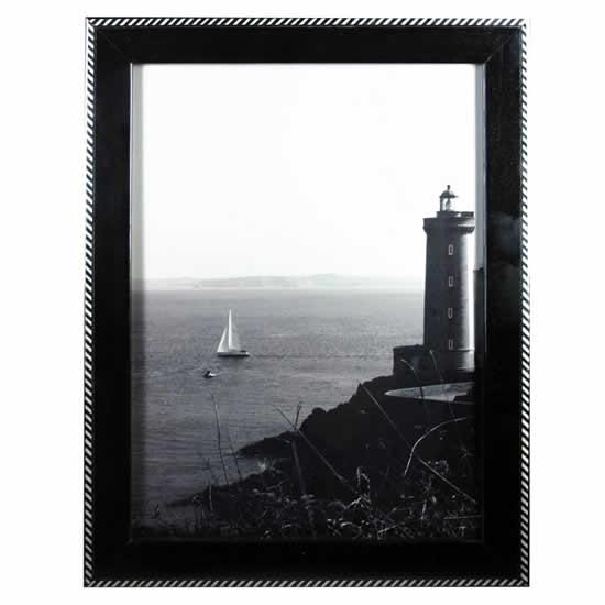 Cadre photo Obl\20\Nero noir 40x50 cm