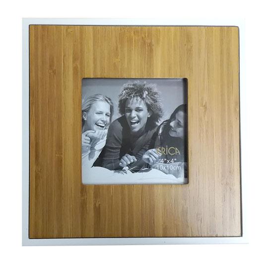Cadre TECK en bois pour photo 10x10