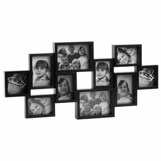 Cadre multivues noir 10 photos