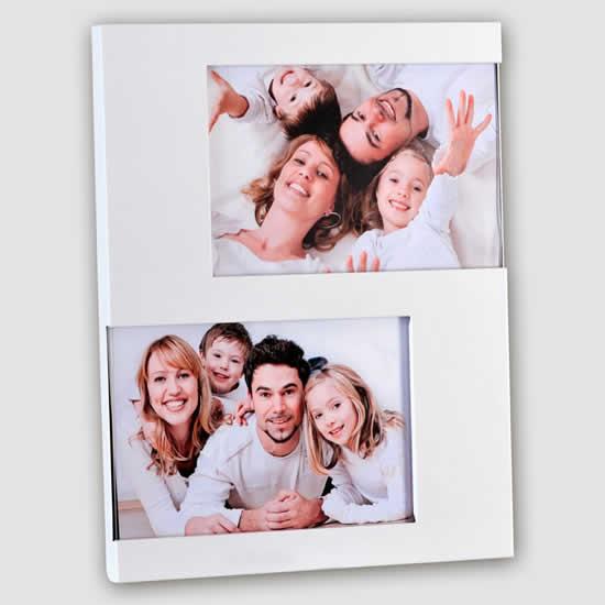 Cadre photo blanc 2 vues 10x15 Emdé