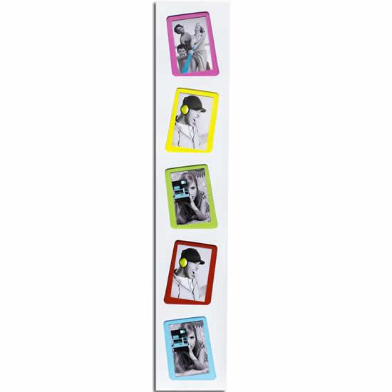 Cadre photo multivues Miami 10x15 blanc 5 photos