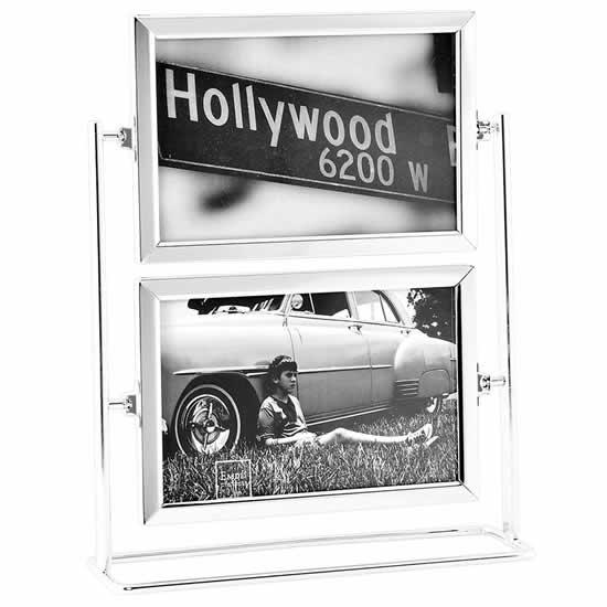 Cadre photo pivotant horizontal 10x15 métal Emdé
