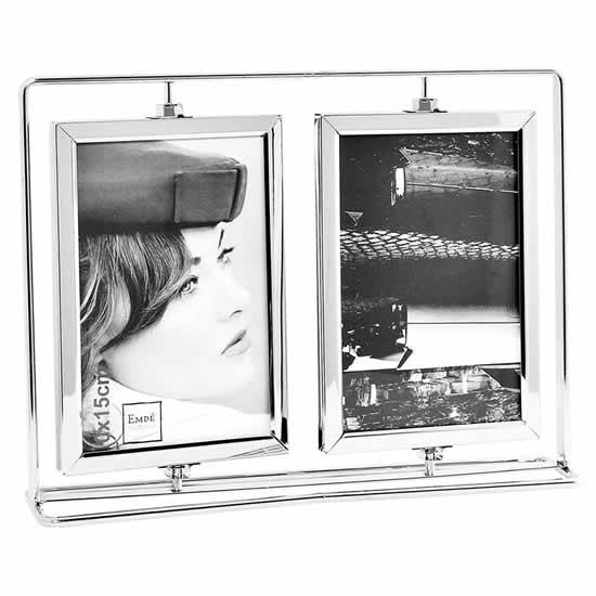 Cadre photo pivotant vertical 10x15 métal Emdé
