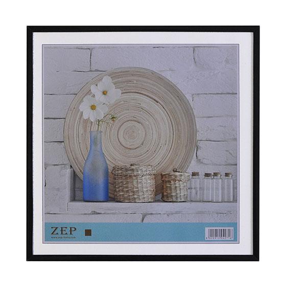 Cadre photo 30x30 noir galerie zep for Cadre photo numerique mural