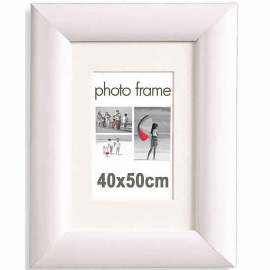 Cadre photo 40x50 cm blanc large