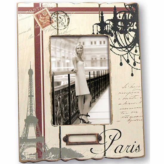 Cadre photo bois Paris 10x15 Belleville