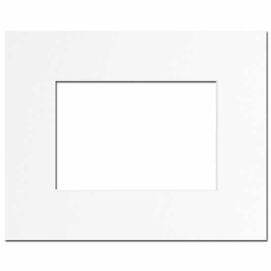 Passe-partout blanc 40x50 pour photo 24x30