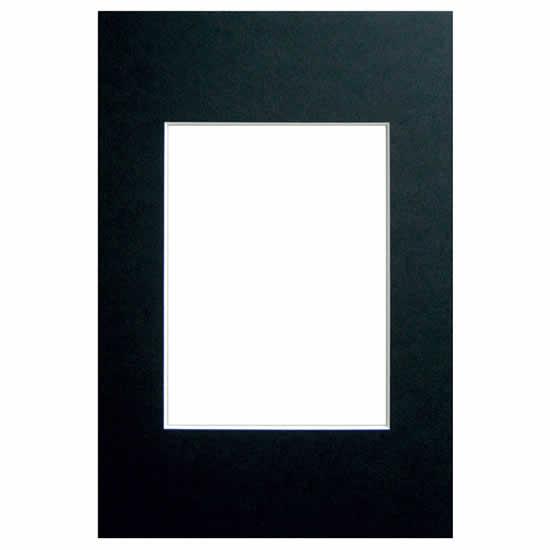 Passe-partout noir 50x70 photo 40x50 biseauté