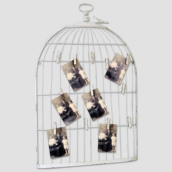 Cadre photo pêle mêle cage à oiseaux