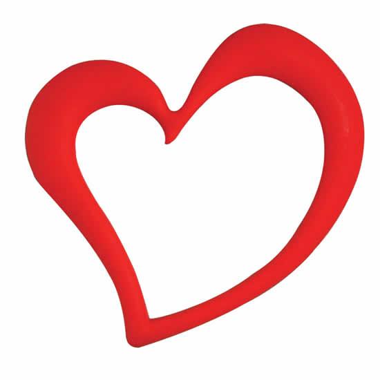 Magnet photo cœur rouge 13x12cm aimant cadre