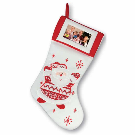 Chaussette de Noël personnalisable photo 9x13cm