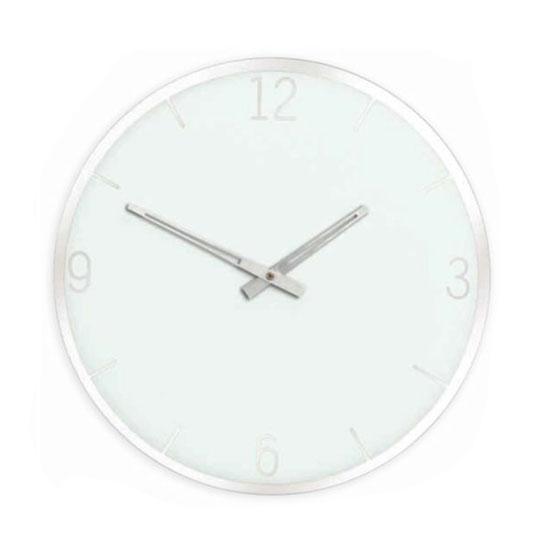 Horloge miroir Murano - Blanche