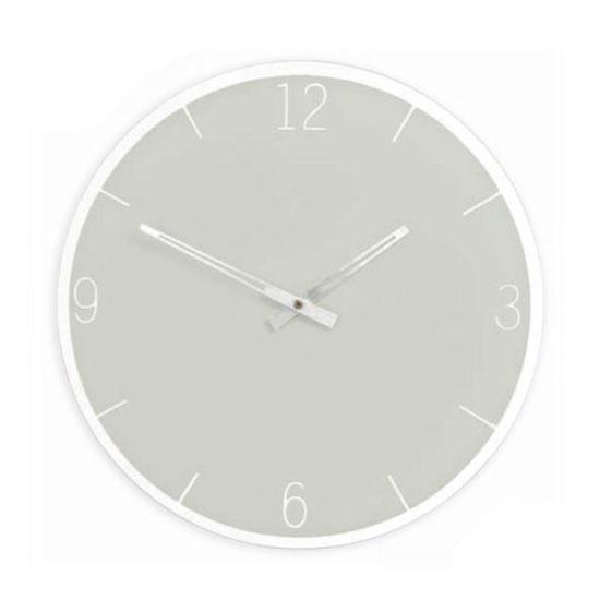 Horloge miroir Murano - grise