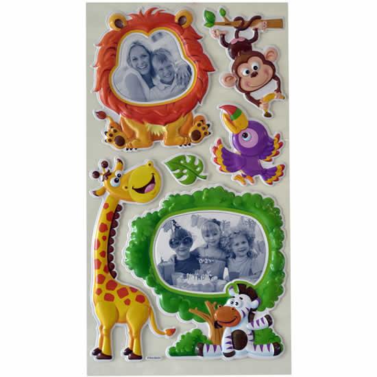 Stickers mural enfant animaux de la savane