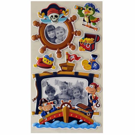 Stickers mural enfant bateau pirate